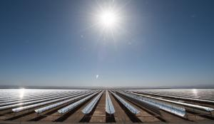 Powerful Concentrated Solar Power (CSP) plant in Ouarzazate, Morocco.