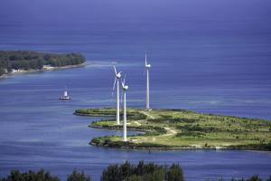 Humanity needs sustainable power supply: wind farm in the Seychelles