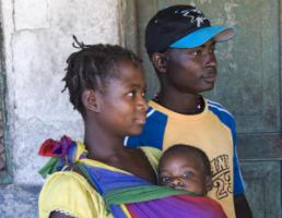 Young family in Mozambique.