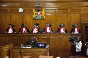 Kenyan Supreme Court judges.