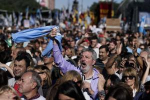Protests in May in Buenos Aires, Argentina, against President Mauricio Macri's decision to seek economic help from the International Monetary Fund.