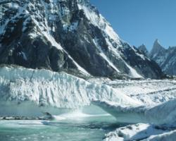 Glacier in the Karakoram mountain range.