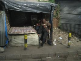 Africa's future depends on jobs for the young generation: street vendor in Nairobi.