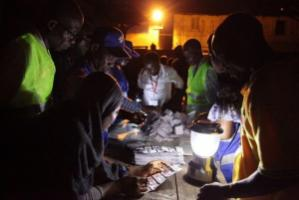 Trust matters on election night: counting votes in Accra in December 2016.