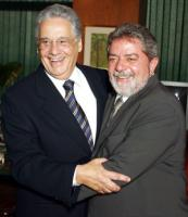 Fernando Henrique Cardoso and Lula da Silva in the fall of 2002.