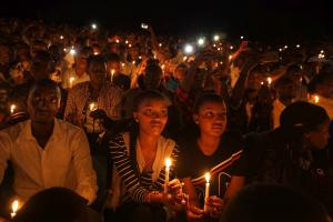 An event in Rwanda's capital, Kigali, to commemorate the genocide of 1994.