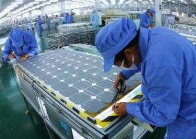 What a country exports, matters a lot: solar-panel production in China's Jiangsu Province.
