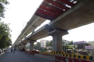 Maha Metro is particularly proud of the 4.5-kilometre-long double-decker section of the track that allows the metro to run above the street.