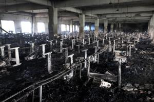 Tazreen factory after the November fire.