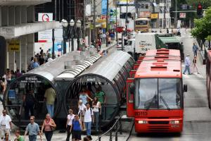 Curitiba in Brazil is a well-planned, pedestrian-friendly city with good public transport