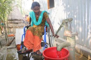 This water pump in Bangladesh is wheelchair-accessible.