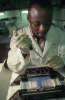 Research depends on appropriate infrastructure: medical lab in Cote d'Ivoire.