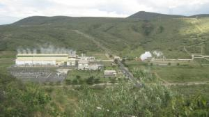 Geothermal power station in Kenya.
