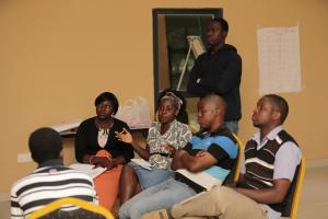 Brainstorming session at the African Youth and Governance Conference.