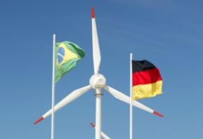 Brazilian-German cooperation: a Brazilian wind power plant funded by the KfW Development Bank.