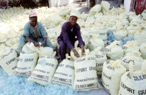 The African Continental Free Trade Area creates opportunities for Africa: Workers of a factory producing sodium silicate in Kenya.