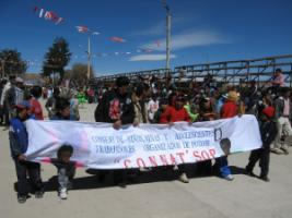 Bolivian working children and youths rally for their rights in 2007.