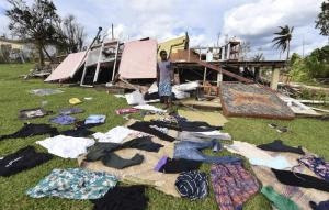 """Small island states in the Pacific are in serious trouble already"": typhoon damages in Vanuatu."