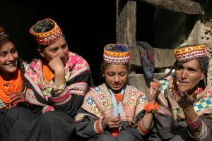 Kalash women and girls.