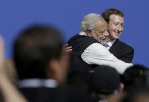 Prime Minister Narendra Modi embraced Facebook founder Mark Zuckerberg in California, but India does not appreciate the corporation Free Basics.