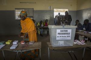 A polling station in Dakar, Senegal's capital.