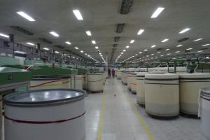 The spinning mill of the DBL Group is clean as a whistle.