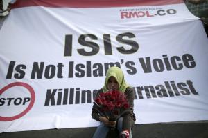 Anti-ISIS protest in Indonesia.