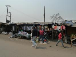 Lots of informal self-employment: market in Lusaka.