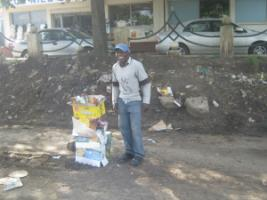 The developing world's rising middle classes do not show much concern for the poor so far: street vendor in Nairobi.