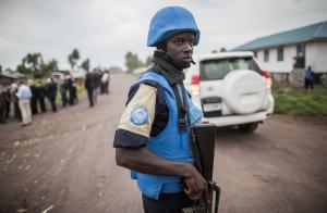 Senegalese UN peacekeeper in the DR Congo.