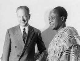 Dag Hammarskjöld and Kwame Nkrumah, the Ghanaian independence leader who was a protagonist of the non-aligned movement.