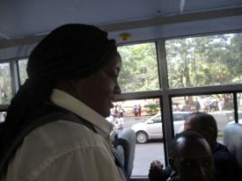 Conductor on a Citi Hoppa bus.