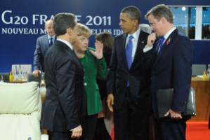 """""""Leaders like Britain's Prime Minister  David Cameron and Germany's Federal Chancellor Angela Merkel have urged Obama to step forward on Doha – to no avail."""" G20 summit in Cannes  last month"""