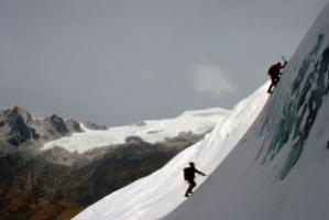 In order to take the right route one has got to know where it should lead to. Climbers in the Cordillera Real in Bolivia