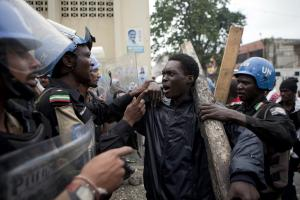 Haitian protesters are angry about the UN