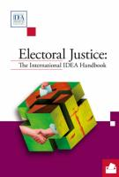 Electoral Justice: The International IDEA Handbook