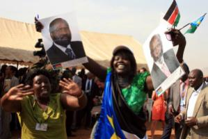 Southern Sudanese celebrate the outcome of the independence referendum