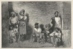 Inmates in an Indian prison in the colonial era