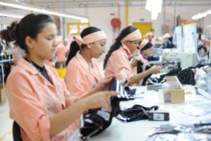 Low wage costs, large share of women workers: Manufacture of bathing textiles for Adidas