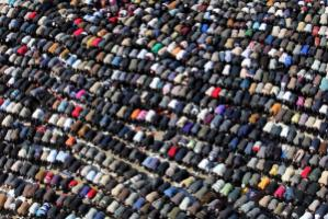 Friday prayers on Tahrir Square before Mubarak's fall