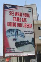 Tax awareness billboards in Monrovia
