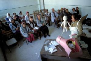 Advanced training opportunities are low for women health workers: Safe delivery practise education to midwives, Tajikistan