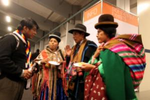 """Networking is very important."" Bolivian climate conference participants in  Copenhagen in 2009"