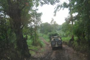 """""""It is impossible to build toll roads in rural districts."""" Mud road in Tanzania"""