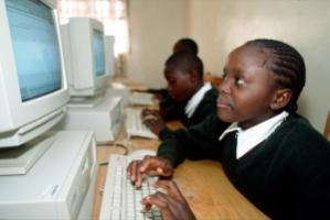 Front page: High technology in the classroom – in Côte d'Ivoire in 1965 and in Kenya in 2009