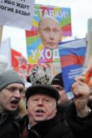 Protesters upset about election manipulations in Russia in December