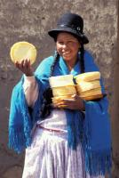 Beating burgers: Cheese seller in Bolivia