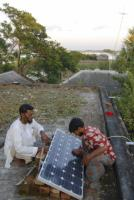 Microcredit schemes help to make solar panels affordable in Bangladesh