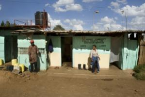 Community sanitation facility in a slum in Nairobi