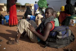 Newly arrived refugee in Bamako, Mali's capital city